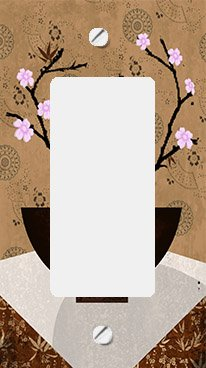 Asian Cherry Blossoms in Bowl II GFI Rocker Switchplate Cover