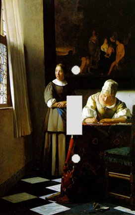 Vermeer Lady Writing Letter with Maid Switch Plate Cover
