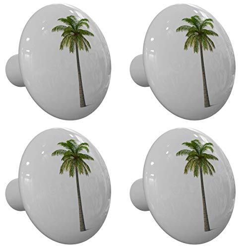 Set of 4 Tall Tropical Palm Tree Drawer Knobs