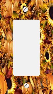 Autumn Harvest GFI Rocker Switchplate Cover