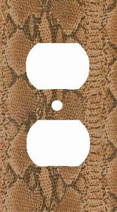 Brown Snake Skin Print Outlet Cover