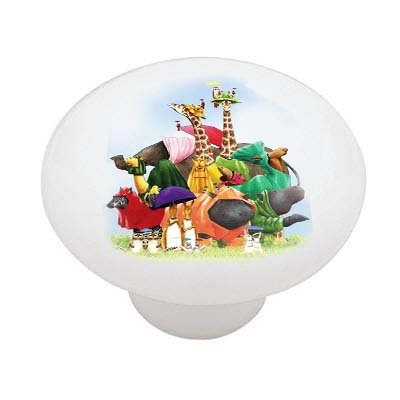 Waiting For Noahs Ark Ceramic Drawer Knob