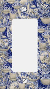 Blue Willow China Collage GFI Rocker Switchplate Cover