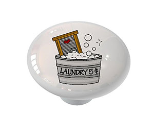 Laundry Washtub Ceramic Drawer Knob