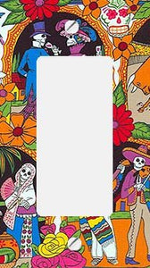 Day of the Dead Collage GFI Rocker Switchplate Cover