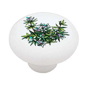 Wild Flowers Ceramic Drawer Knob