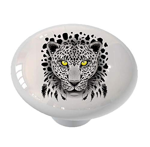 Wild Snow Leopard Drawer/Cabinet Knob by Gotham Decor