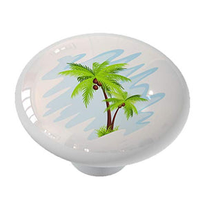 Abstract Palm Trees Drawer Knob