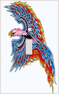 Phoenix of Fire Switch Plate Cover