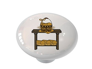 Country Bread Table Ceramic Drawer Knob