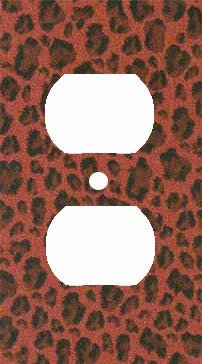 Brick Leopard Print Outlet Cover