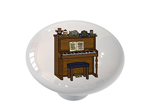 Country Time Piano Ceramic Drawer Knob