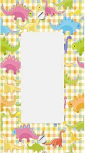 Gingham Dinosaurs GFI Rocker Switchplate Cover