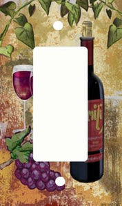 Red Wine and Grapes GFI Rocker Light Switch Cover