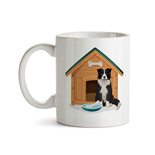 Border Collie Doghouse 11oz Coffee Mug - Tea Mug