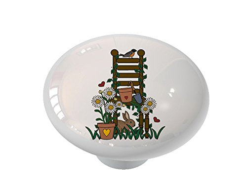 Garden Chair Ceramic Drawer Knob