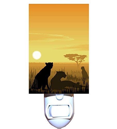 Savannah Lion Silhouette Night Light