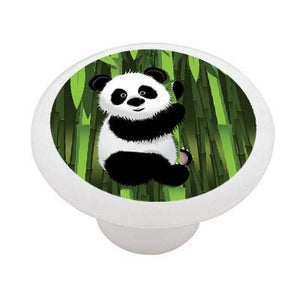Panda Bamboo Ceramic Drawer Knob