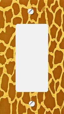 Giraffe Skin Print GFI Rocker Switchplate Cover