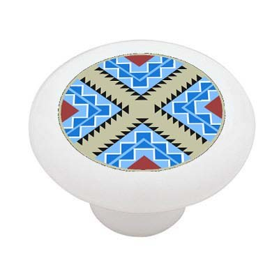 Tribal Check Ceramic Drawer Knob
