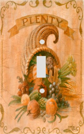 The Thanksgiving Horn of Plenty Switch Plate Cover