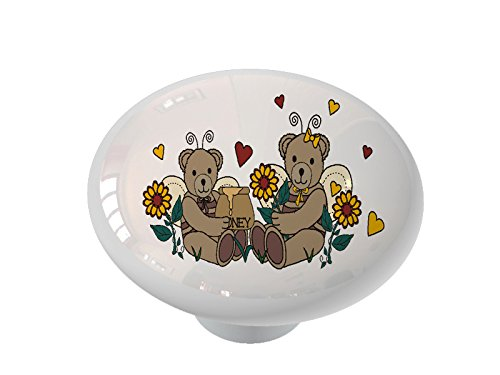 Honey Bear Angels Ceramic Drawer Knob
