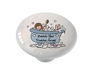 Bubble Bath Ceramic Drawer Knob