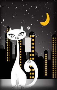 City Nights Cat Switch Plate Cover