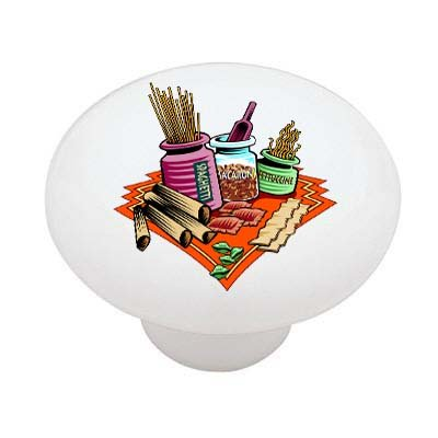 Pasta Picnic Ceramic Drawer Knob