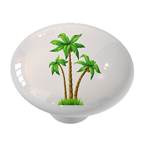 Triple Palms Ceramic Drawer Knob