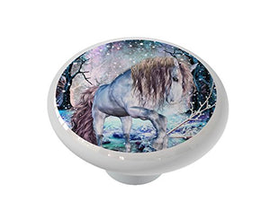 Winters Trail Ceramic Drawer Knob
