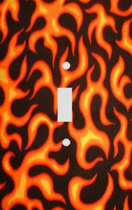 Orange Flames Switch Plate Cover