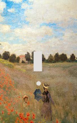 Claude Monet Poppy Field Switch Plate Cover