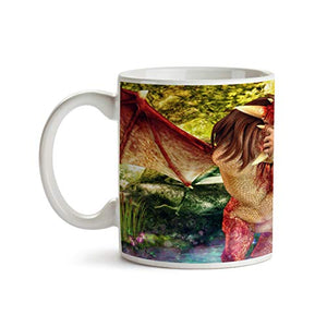 Fire Dragon Kiss 11oz Coffee Mug - Tea Mug