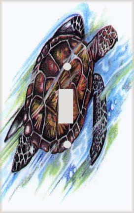 Sea Turtle Switch Plate Cover