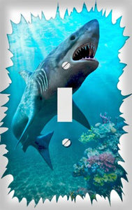 Great White Shark Switch Plate Cover