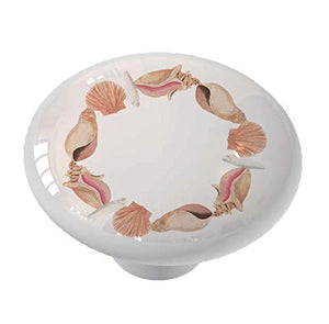 Nautical Seashell Circle Drawer Knob