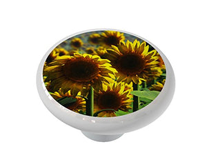 Sunflower Meadow Ceramic Drawer Knob