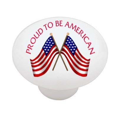 Proud to Be an American Ceramic Drawer Knob