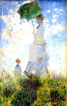 Claude Monet Woman with Parasol Switch Plate Cover