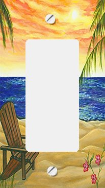 Beach Retreat GFI Rocker Switchplate Cover