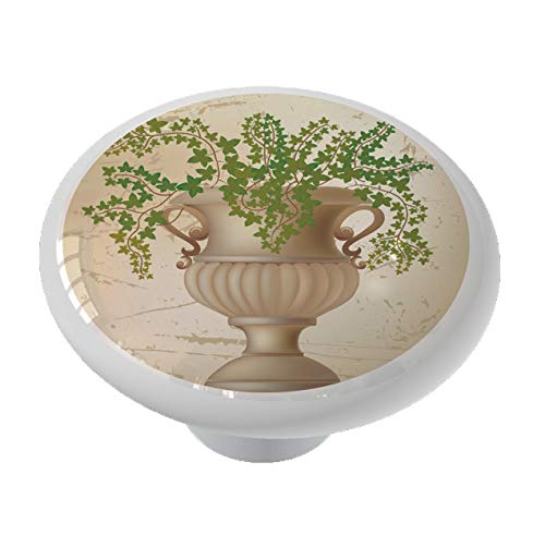 Potted Ivy Ceramic Drawer Knob