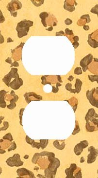 Golden Leopard Skin Print Outlet Cover