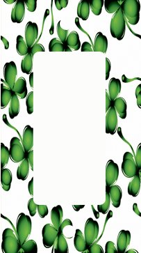 St Patricks Shamrock Pattern GFI Switch Plate Cover