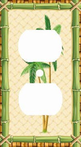 Bamboo Palm Tree Green Outlet Cover