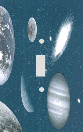 Moon Galaxies and Planets Switch Plate Cover
