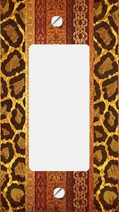 Animal Print Elegance GFI Rocker Switchplate Cover
