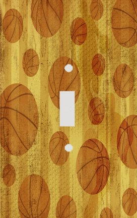 Basketball Gold Switch Plate Cover