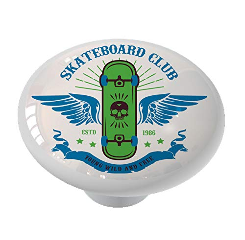 Skateboard Club Drawer Knob