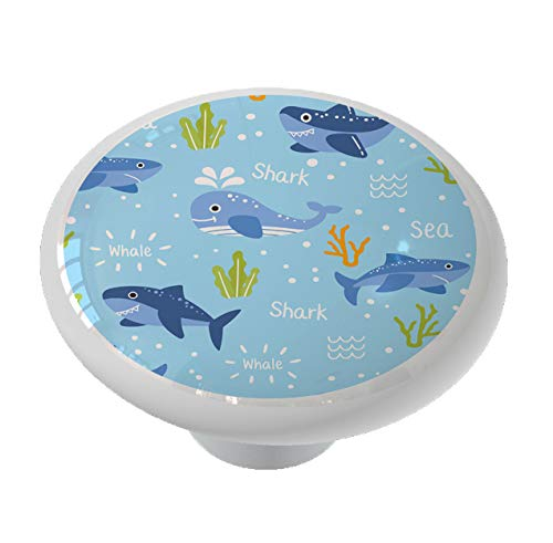 Little Whales and Sharks Drawer Knob